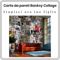 Amaze your teenage son with Banksy Collage wallpaper: it