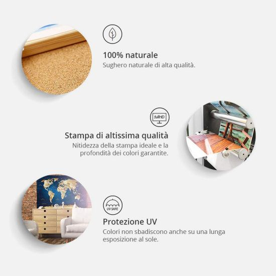 Artgeist Decorative Pinboard Italy [Cork Map] is a product on offer at the best price