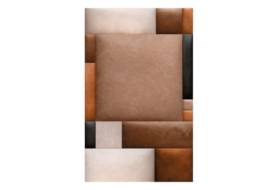 Artgeist Wallpaper Leather blocks is a product on offer at the best price