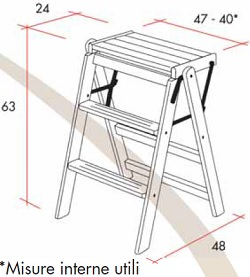 Guarnieri Folding stool Aristotle ladder is a product on offer at the best price