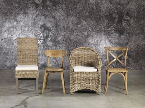 Guarnieri Elm chair and natural rattan seat is a product on offer at the best price