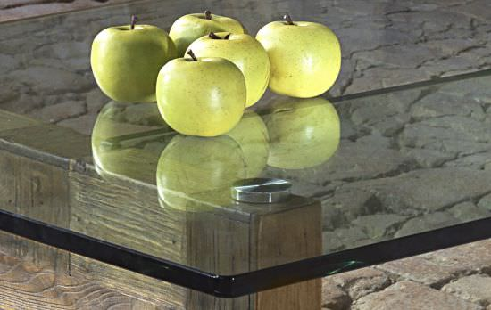 Guarnieri Coffee table with glass plate is a product on offer at the best price