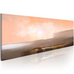 Artgeist Handmade painting Between pink and gr is a product on offer at the best price