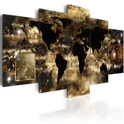 Tableau Continents of bronze