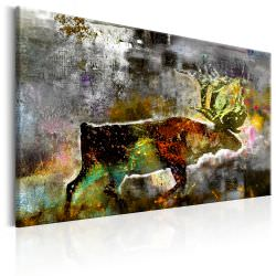 Artgeist Canvas Print Emerald Caribou is a product on offer at the best price