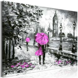 Quadro Walk in London 1 Part Wide Pink