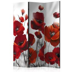 Room Divider Poppies in the Moonlight