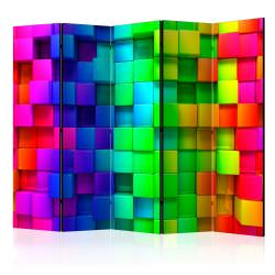 Room Divider Colourful Cubes II [Room