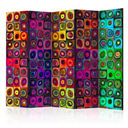 Paravent 5 volets Colorful Abstract A