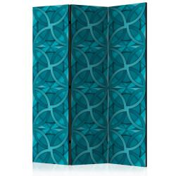 Room Divider Geometric Turquoise [Roo