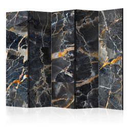 Paravent 5 volets Black Marble II Ro
