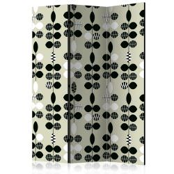 Room Divider Black and White Dots [Ro