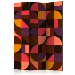 Room Divider Geometric Mosaic Red [