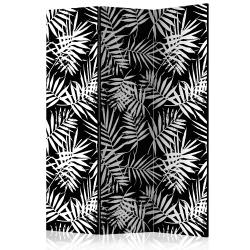 Room Divider Black and White Jungle [