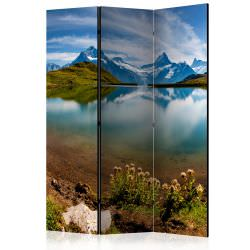 Room Divider Lake with mountain refle
