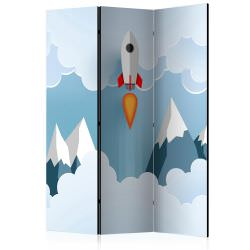 Room Divider Rocket in the Clouds [Ro
