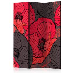 Room Divider Pleated poppies [Room Di
