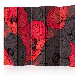Biombo Pleated poppies II Room Divid