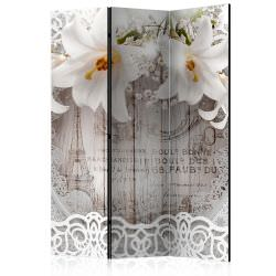 Room Divider Lilies and Quilted Backg