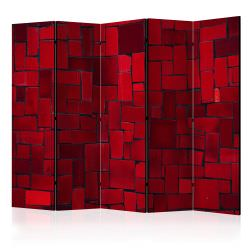 Paravent 5 volets Red Imagination II