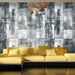 Artgeist Wallpaper City shrouded in rain is a product on offer at the best price