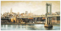Quadro Decorativo Manhattan Bridge Way
