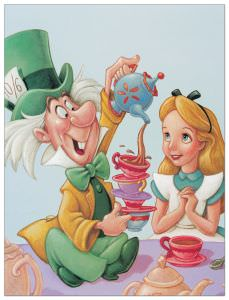 Quadro Decorativo Alice And The Mad Hatter Celebration In Wonderland