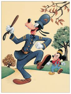 Quadro Decorativo Officer Goofy