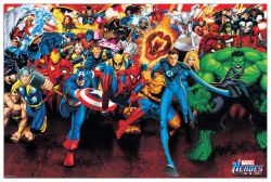 Quadro Decorativo Marvel Superheroes