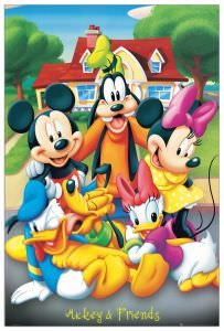 Quadro Decorativo Mickey And Friends