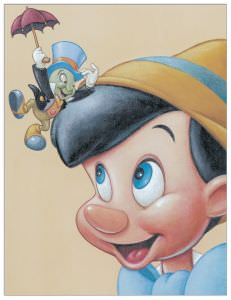Quadro Decorativo Pinocchio And Jiminy Friendly Fun