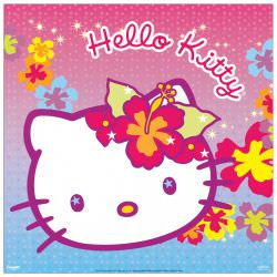 Quadro Decorativo Hello Kitty Blue