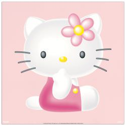 Quadro Decorativo Hello Kitty Pink
