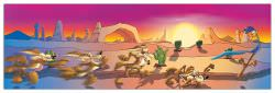 Quadro Decorativo Wile Road Runner Desert