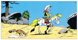 Quadro Decorativo Lucky Luke E Ran Tan Plan