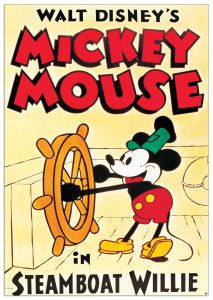 Quadro Decorativo Mickey Mouse In Steamboat Willie