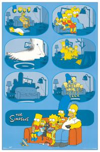 Quadro Decorativo Simpson Family