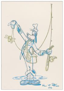 Quadro Decorativo Fisherman Goofy