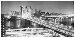Quadro Decorativo Brooklyn Bridge At Night