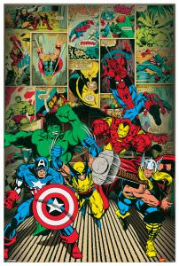 Quadro Decorativo Here Come The Heroes