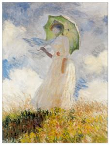 Quadro Decorativo Lady With Umbrella