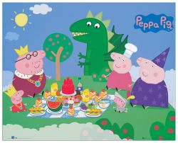 Quadro Decorativo Peppa Pig Picnic