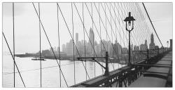 Quadro Decorativo Manhattan See Throught Cables Of BBridge 1937