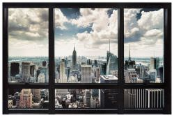 Quadro Decorativo New York Window