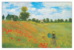 Quadro Decorativo Champs De Coquelicots