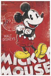 Quadro Decorativo Mickey Mouse Unique Since 1928