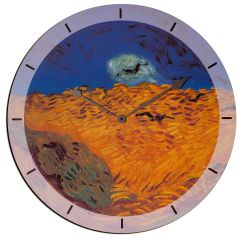 Orologio In Legno Weatfield With Crows