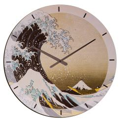 Orologio In Legno The Great Wave Of Kana