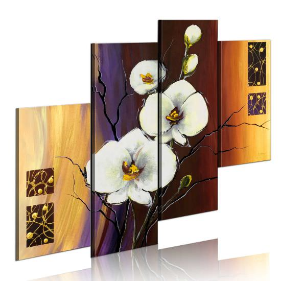 Handmade painting White orchid