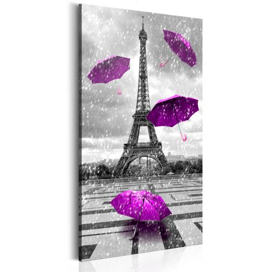 Quadro Paris Purple Umbrellas